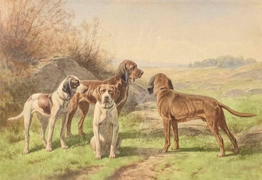 Hermann Simon The Pack, 1891 unframed