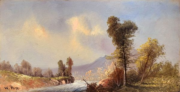 William N. Post (Born 1859)  In the Hudson River Valley