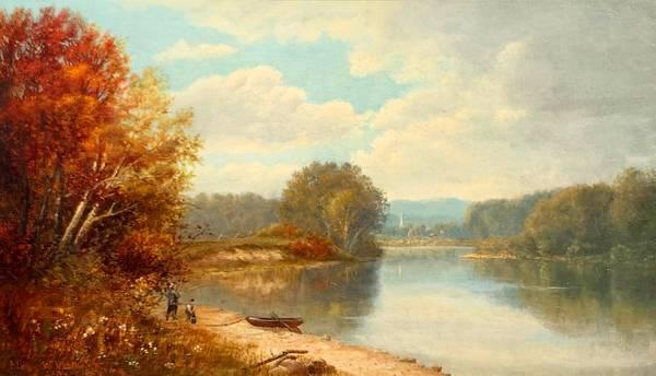 May Wheelock  On the Esopus Creek, 1878