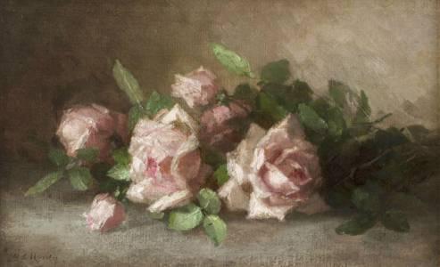 Anna Eliza Hardy Roses Unframed