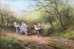 James Crawford Thom Children Playing Unframed