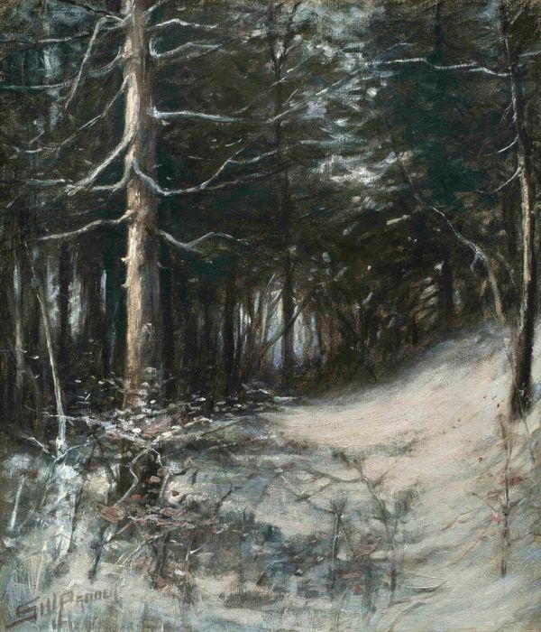 Sidney Probert Winter Forest unframed