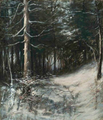 Sidney Probert Winter Forest unframed