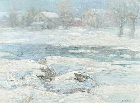 Paul King Duck Pond Winter unframed