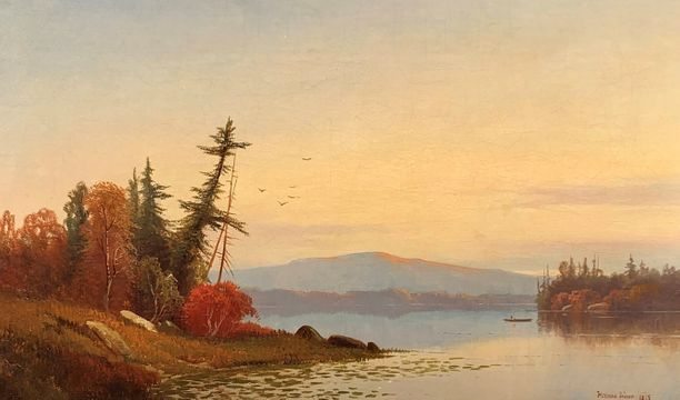 Hermann Simon Sunset on the Hudson Rive