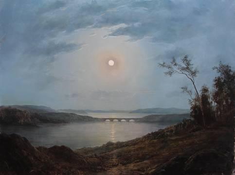 Acadian Scene in Moonlight_Lauren Sansaricq_web_18x24in. oil on panel.jpg