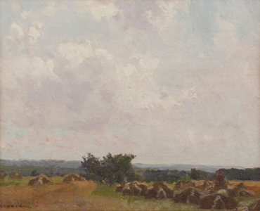 Robert Vonnoh Haystacks Unframed