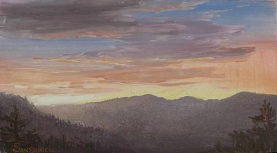 Lauren Sansaricq Sunset in the White Mountains Unframed