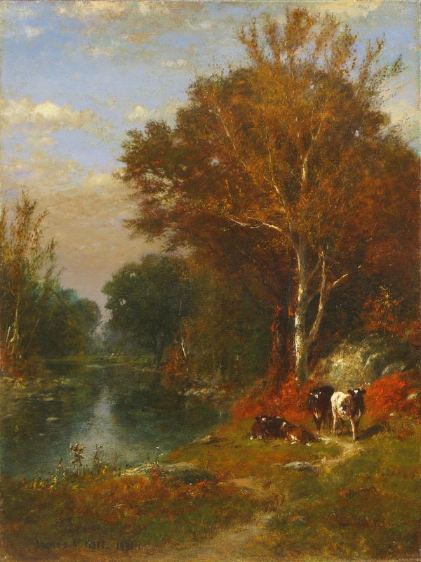 James McDougal Hart Fall Landscape unframed