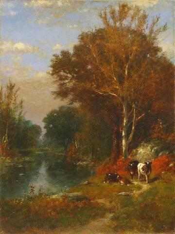 James McDougal Hart Fall Landscape unframed
