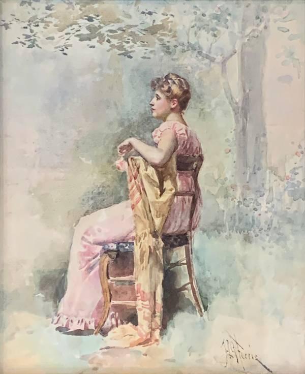 Jean Leon Gerome Ferris Seated Woman unframed