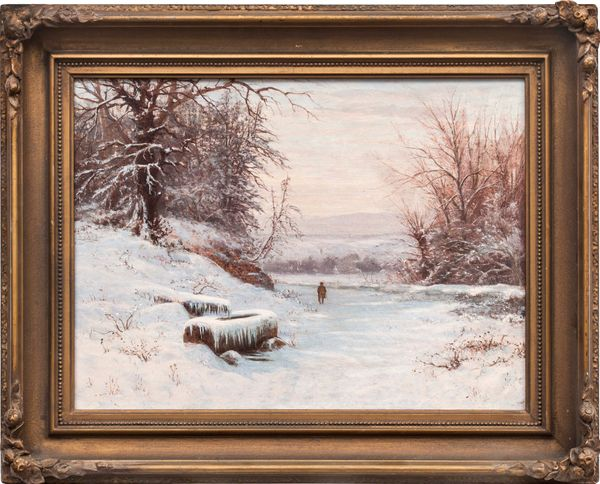 Edward Gay A Walk in Winter Framed