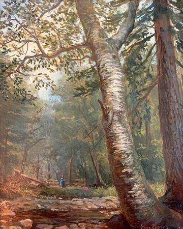 Lauren Sansaricq Wooded Interior of a Birch, 2011