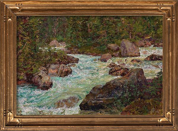 Walter Launt Palmer The Mountain Torrent framed