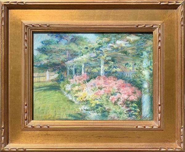 Alice Stackpole A Flower Border, Battelle House, Mattapoisett, Massachusetts, 1912