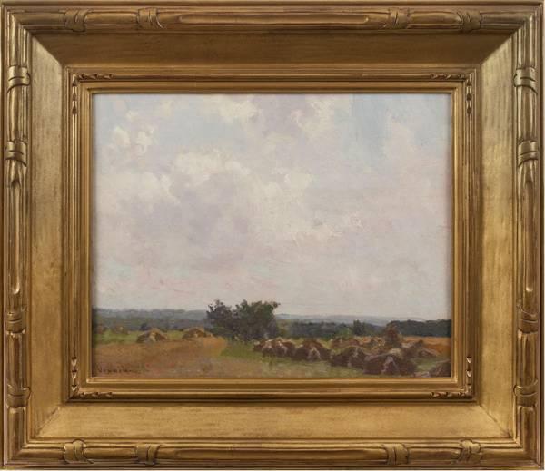Robert Vonnoh Haystacks Framed