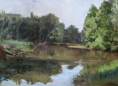 CAROLINE LORD Along the River Bank Unframed