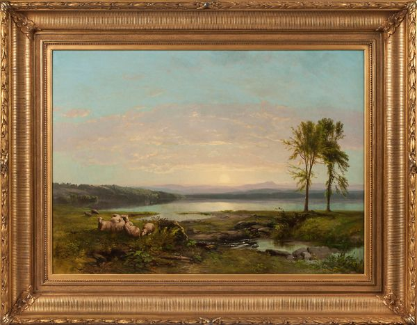 James McDougal Hart Dawn of Morning Framed