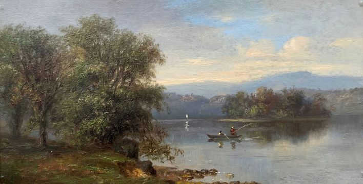 Robert Spear Dunning Bass Lake, 1876 unframed