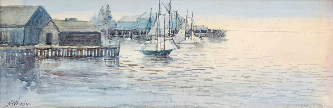 Nellie Louise Thompson Early Evening, Gloucester Harbor