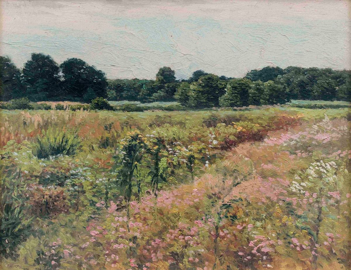 James Perry Wilson Field of Wildflowers Painted at Towaco New Jersey Unframed