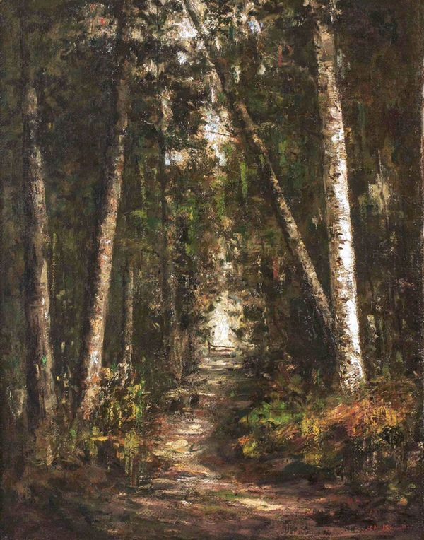 Helen Mary Knowlton Forest Path Unframed