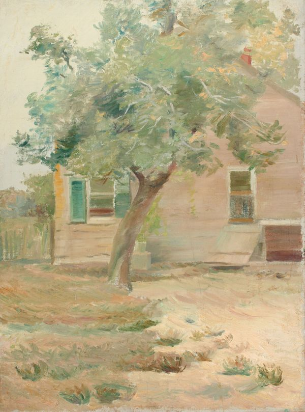 Mary L. Haines House with Tree unframed