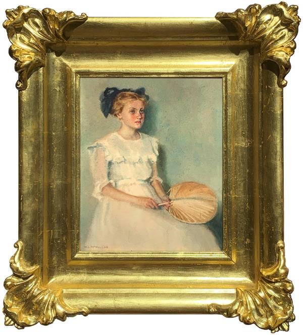 Mary Lane McMillan Girl with Fan, c. 1911