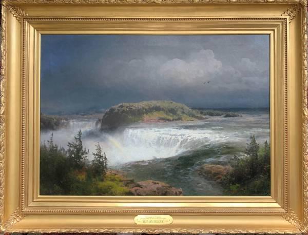 Hermann Herzog Niagara Falls from the Canadian Side