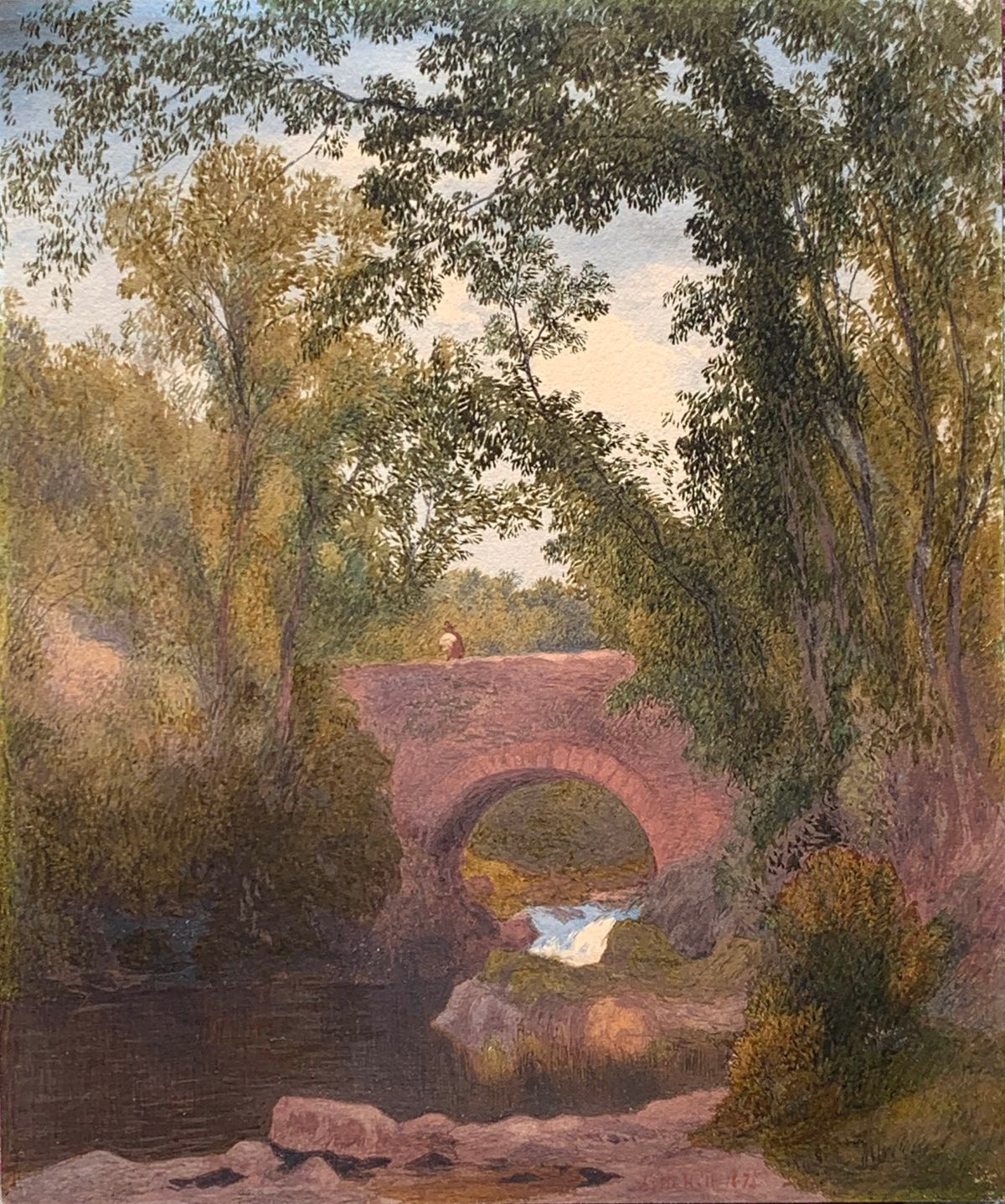 John Henry Hill The Old Stone Bridge unframed