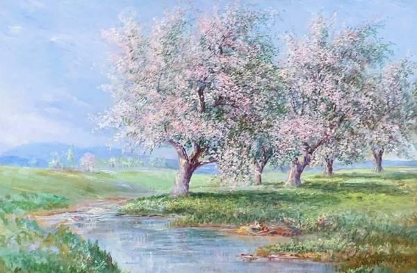 Verner Moore White Apple Blossoms unframed
