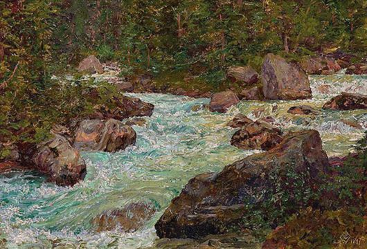 Walter Launt Palmer The Mountain Torrent unframed