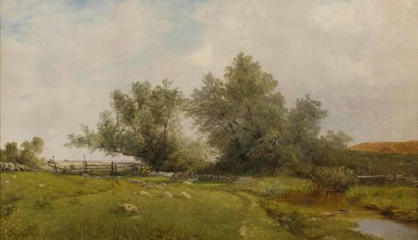 John Frederick Kensett Rhode Island Meadow unframed