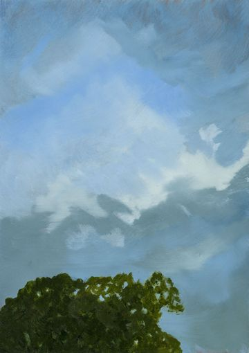 Megan Bongiovanni Treetops and Clouds Unframed