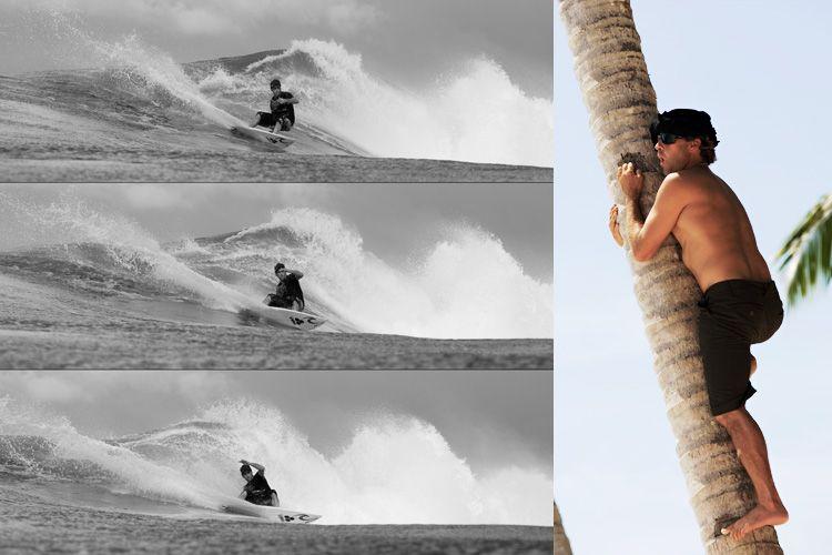 Legendary Surfer Tom Curren and former world champion.