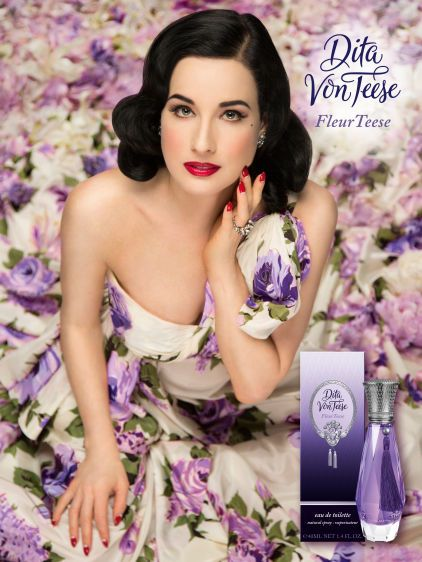 """Dita Von Teese """"FleurTeese"""" Global Advertising Campaign"""