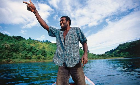 Boat man on the Ovalau river, Fiji, Islands Magazine