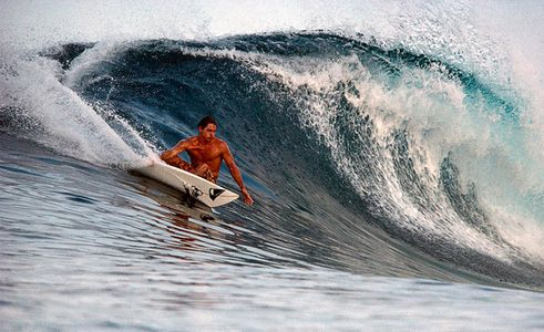 Kelly Slater 9 Time World Champion Surfer , Hallow Tree's, Mentawais, Indonesia 1999