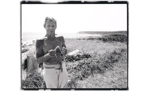 Peter Beard, Photographer Artist, Working at the Warhol Estate, Montauk, N.Y. 1997
