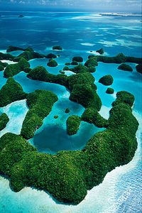 Aerial over the Rock Islands, Islands Magazine