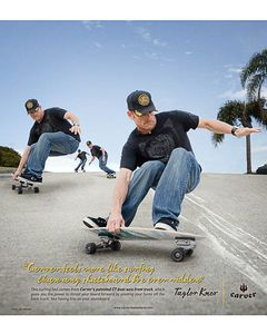 Carve Skateboard advertisement