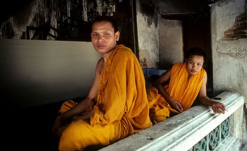 Monks , Grand Palace , Bangkok Thailand