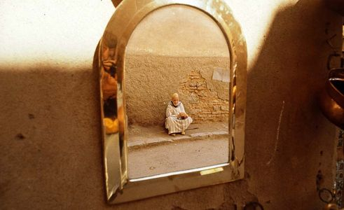 Blind Man in a mirror, Marrakesh, Morocco