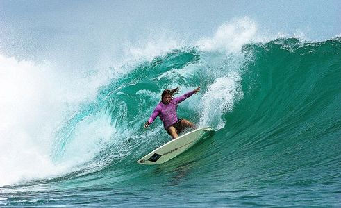 Mark Occhilupo, World Champion Surfer,Macaroni's, Mentawais, Indonesia