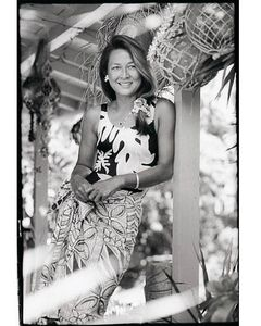 Rell Sunn, Surfing Queen of Makaha, Hawaii, at home, 1994