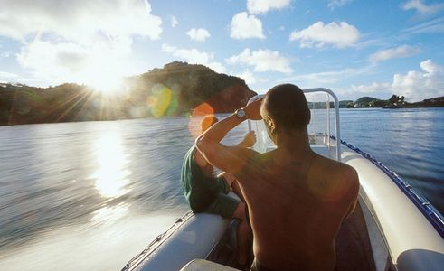 Racing the lite through the Rock Islands, Palau, Islands Magazine