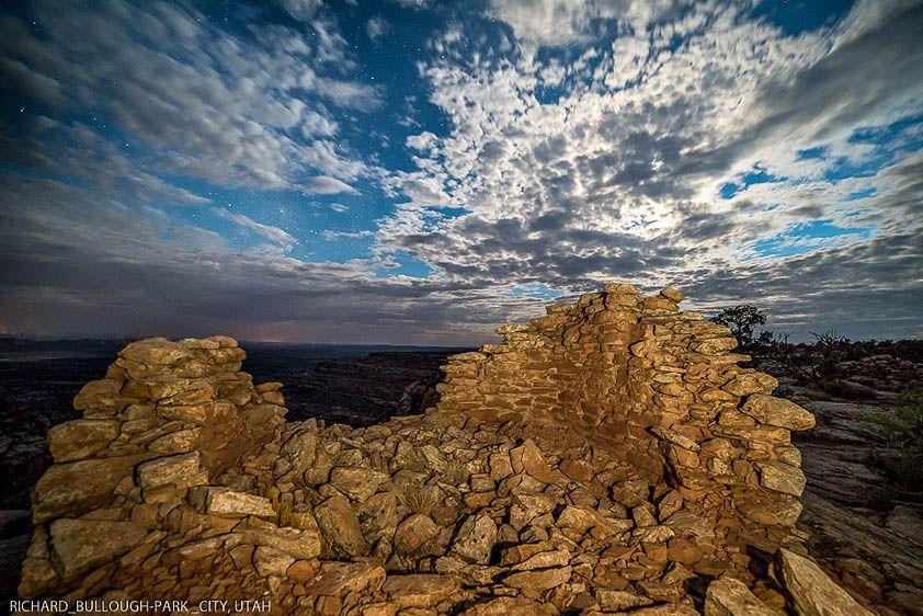 Rim Ruins by Moonlight, Utah