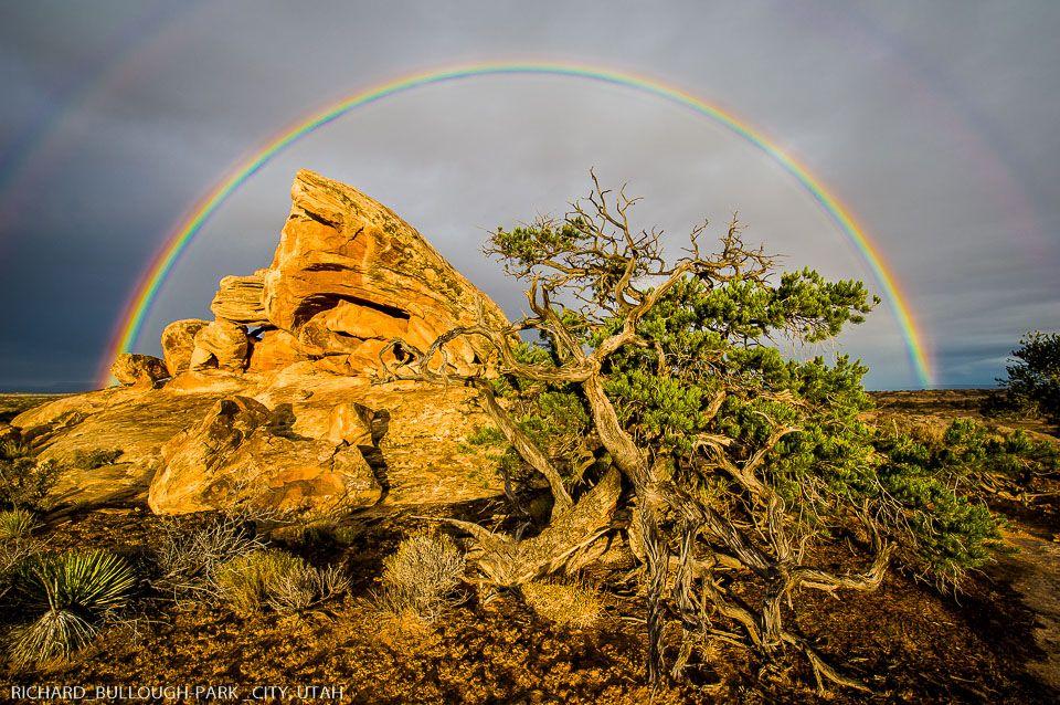 Rainbow over Cedar Mesa