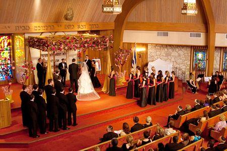 Jewish wedding ceremony with chuppah in Dayton, Ohio