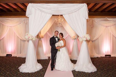 Jewish wedding ceremony with chuppah at the Dayton Masonic Center Dayton, Ohio